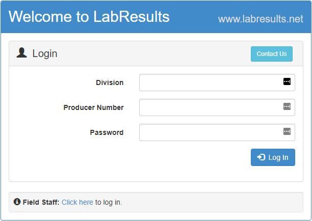 Lab Results Login